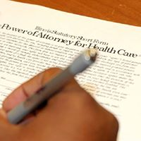 Complete your adult childs healthcare power of Attorney