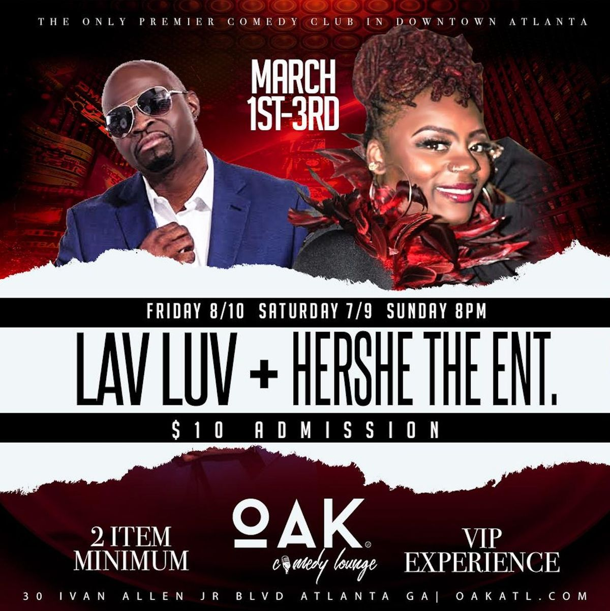 Lav Luv  Hershe the Ent at OAK Atlanta Comedy Live