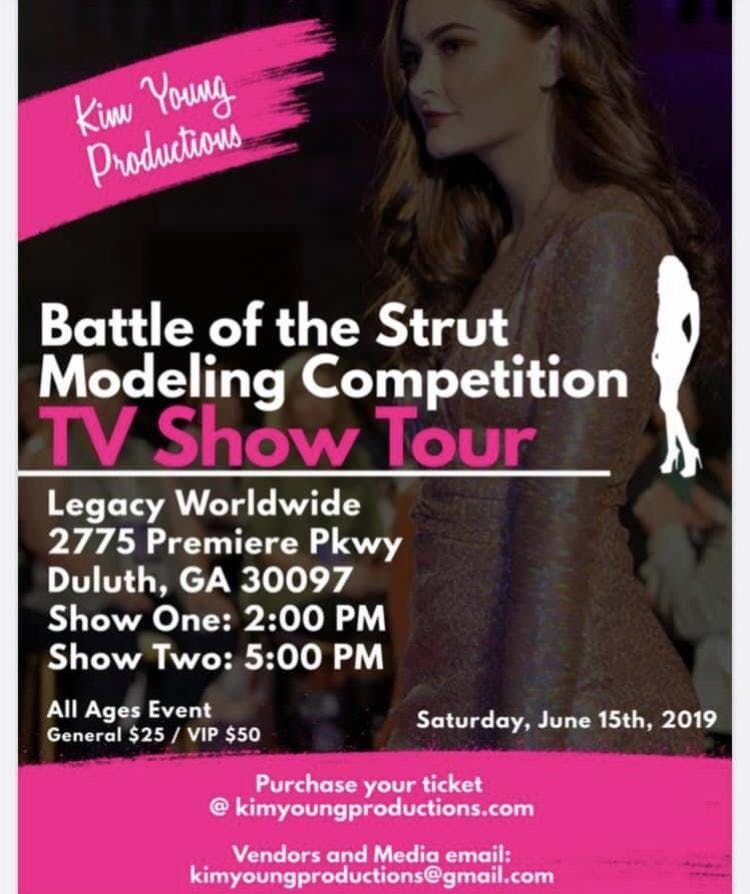 Battle of the Strut Modeling Competiton TV  Show Tour-Atlanta