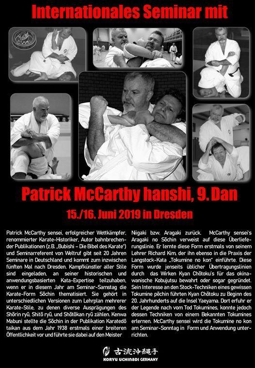 Internationales Seminar mit Patrick McCarthy hanshi 9. Dan