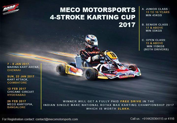 Meco Motorsports 4stroke Karting Cup 2017 At Marina Kart Arena Chennai