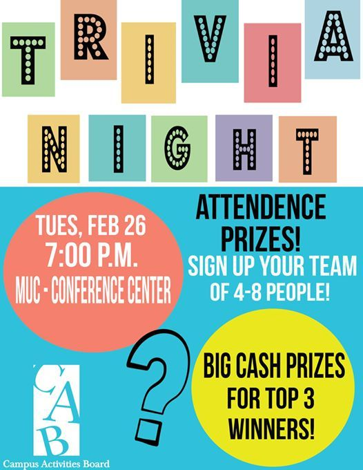 CAB Trivia Night at SIUE Campus Activities Board6 HAIRPIN DR ... on