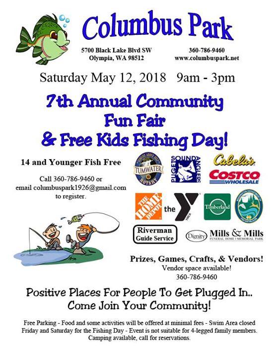 Columbus Park 7th Annual Community Fun Fair and Free Kids Fishin
