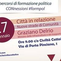Graziano Delrio a &quotConnessioni&quot- Percorsi di formazione politica