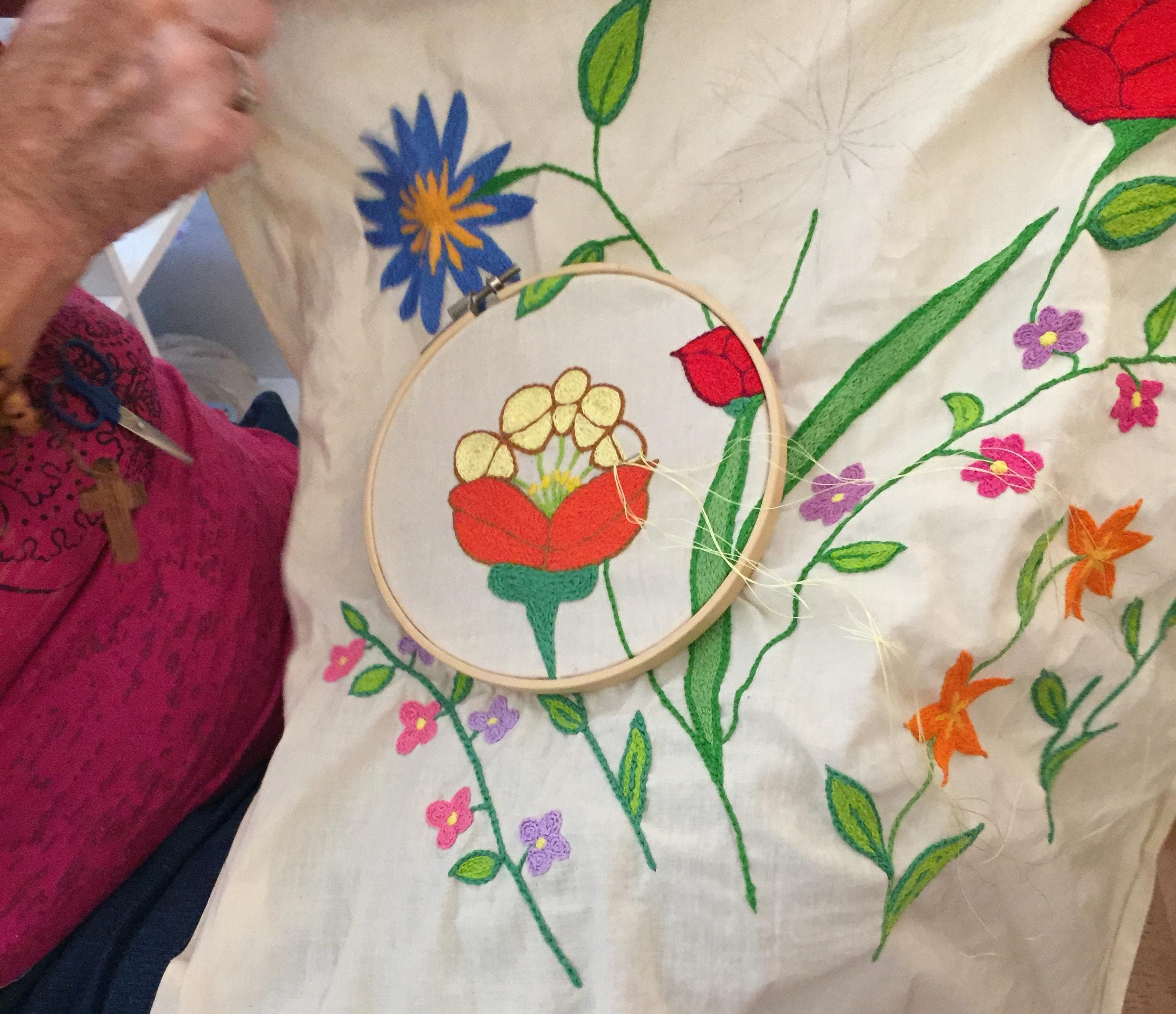 Intro To Embroidery At The Welcome Project Cincinnati
