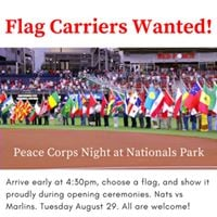 Carry A Flag at Parade of Nations for Peace Corps Night