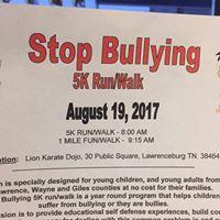 Stop Bullying 5 K RunWalk