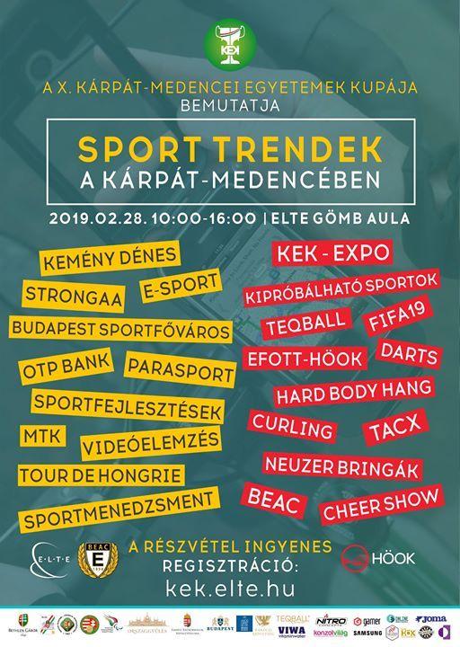 Sport trendek a Krpt-medencben - konferencia