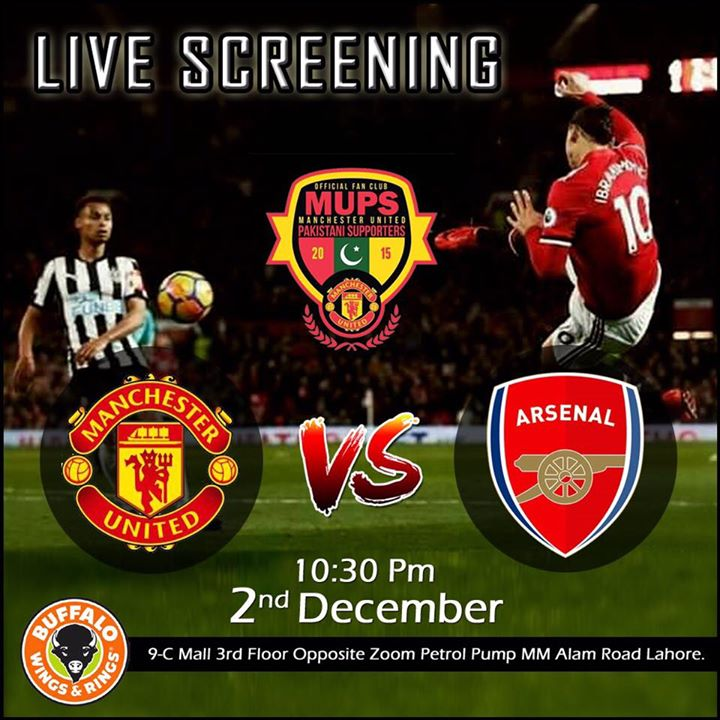 Lahore - Buffalo Wings and Rings) Manchester United vs