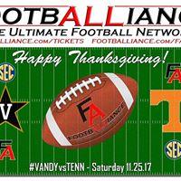 College Football  Vanderbilt at Tennessee VANDYvsTENN