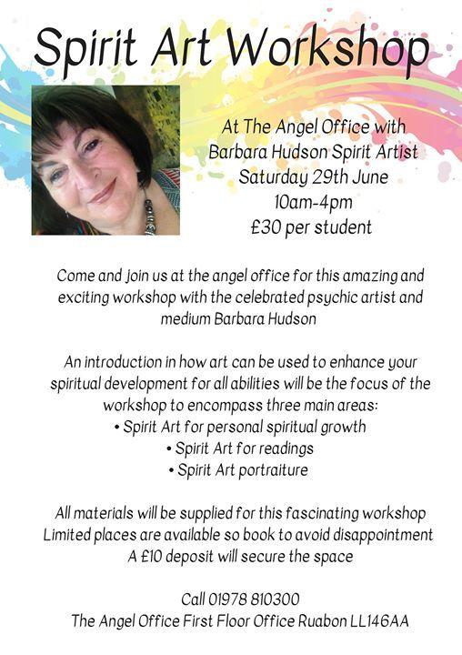 Spirit Art Workshop at The Angel Office