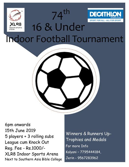 74th 16 and Under Indoor Football Tournament