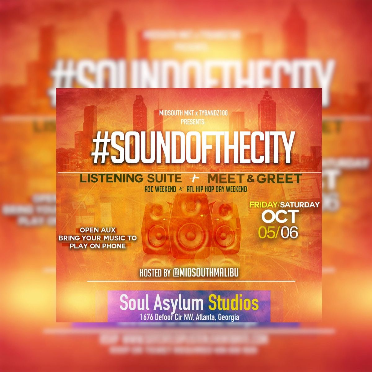 105 SOUND of the CITY (A3C  ATL BET HIP-HOP WKND) SIP -n- LISTEN EVENT 9