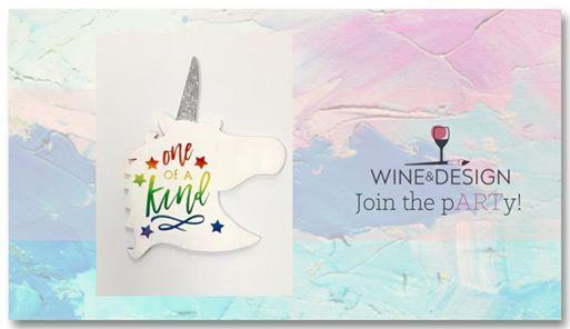 Unicorn Wooden Sign Class At Wine Design Greenville Sc Carolina