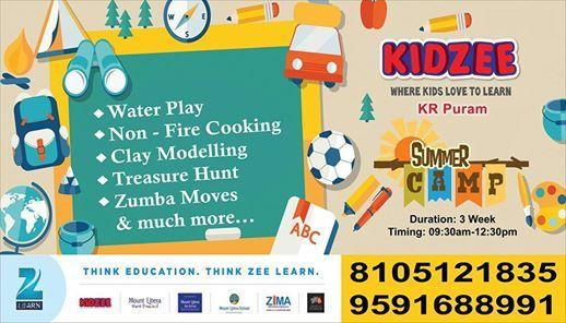 Kidzee Kr Puram Summer Camp Batch I