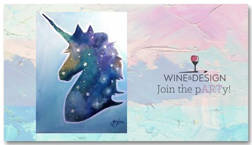 Starry Unicorn Family Paint Day 25 At Wine Design Greenville