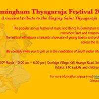 Birmingham Thyagaraja Festival 2018