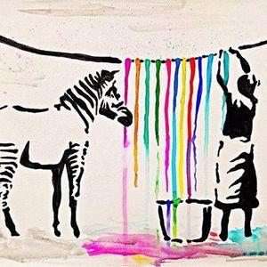 ArtNight Banksy Washing Zebra am 26062019 in Kln