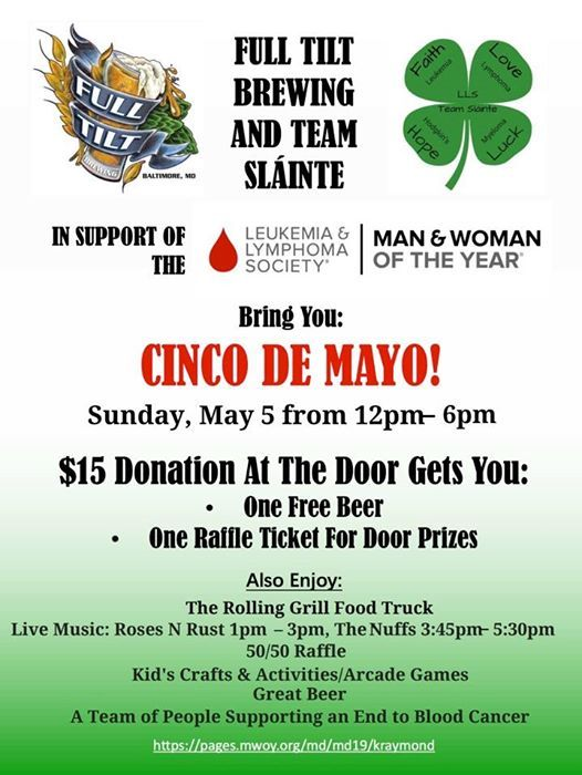 Cinco de Mayo for LLS Man of the Year at Full Tilt Brewing