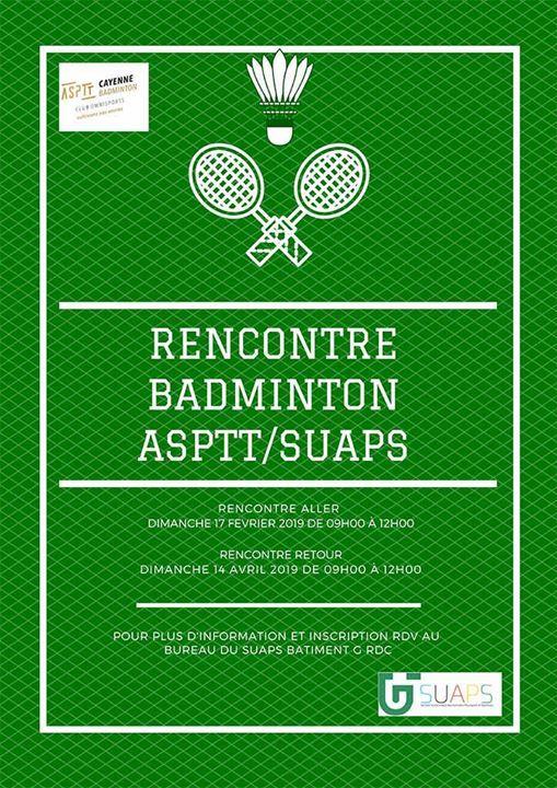 Rencontre retour Badminton