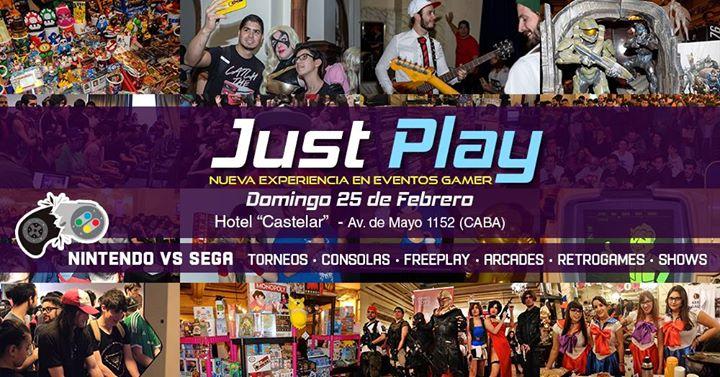 Just Play  Nuevo Evento Gamer - 25 de Febrero