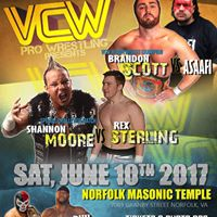 VCW Pro Wrestling - Sat. June 10th at Norfolk Masonic Temple