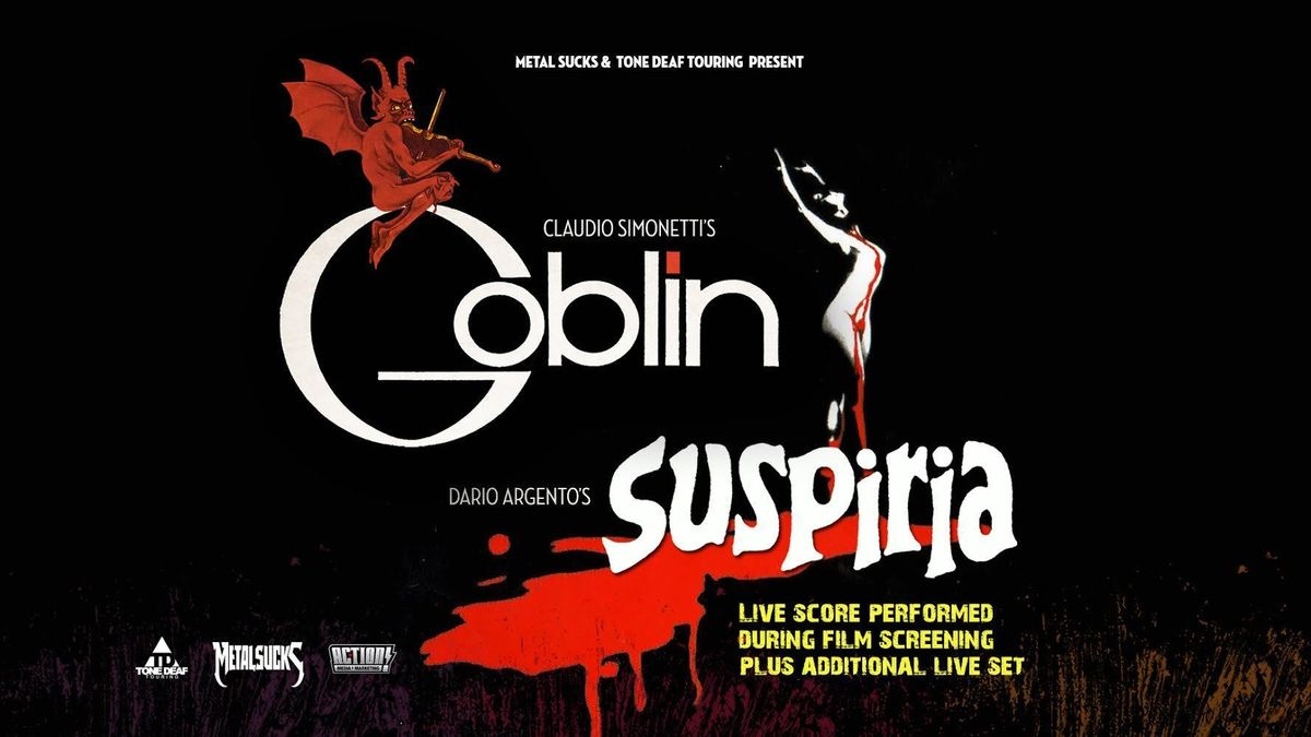 Claudio Simonettis Goblin performing the live score to SUSPIRIA