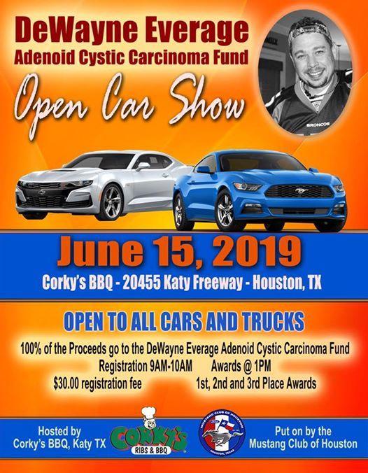 DeWayne Everage Adenoid Cystic Carcinoma Fund OPEN Car Show