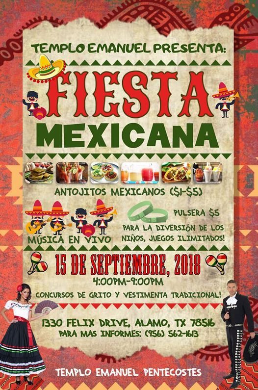 Fiesta Mexicana At Templo Emanuel Alamo Alamo