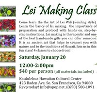 Lei Making Class - Kaululehua Hawaiian Cultural Center