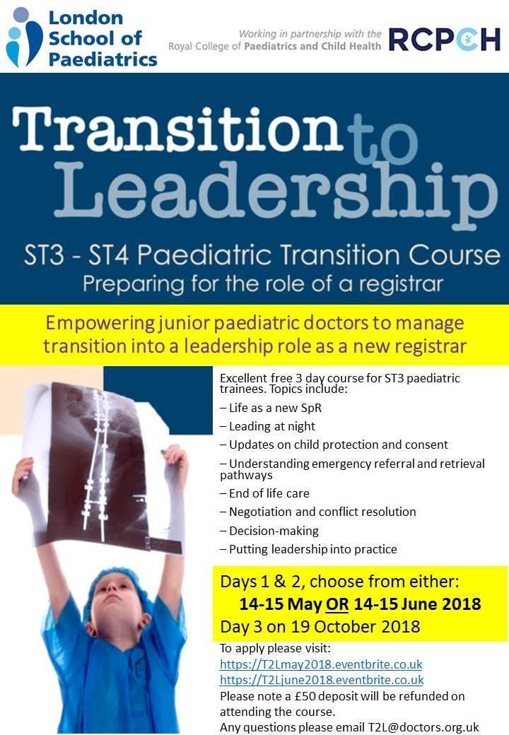 Transition 2 Leadership June 2018