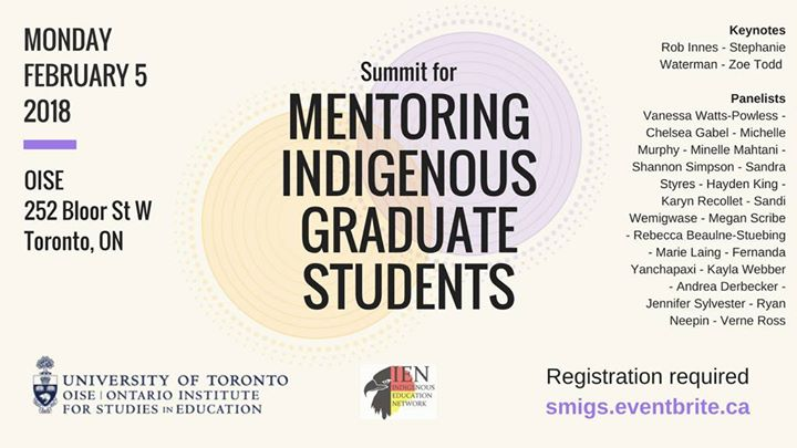 Summit for Mentoring Indigenous Graduate Students