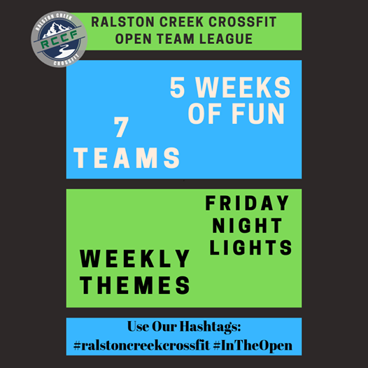 RCCF Open Team League & Friday Night Lights
