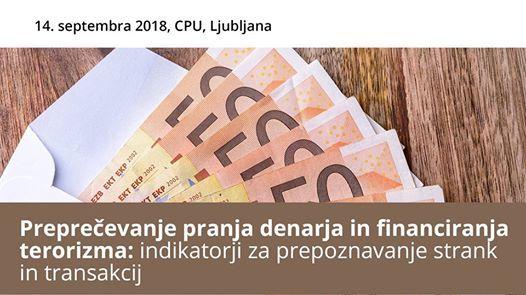 Seminar Prepreevanje pranja denarja in financiranja terorizma