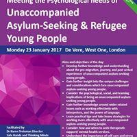 Masterclass Meeting the Psychological needs of Unaccompanied Asylum-Seeking &amp Refugee Young People