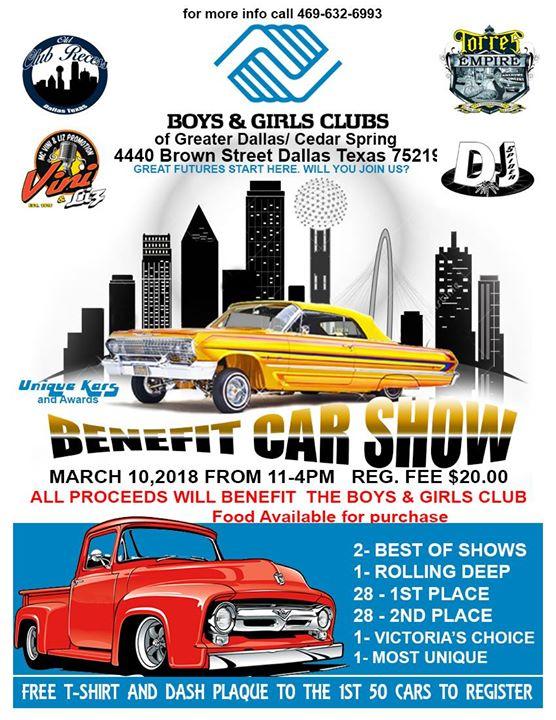 Boys Girls Club Benefit Car Show Dallas - Dallas car show 2018