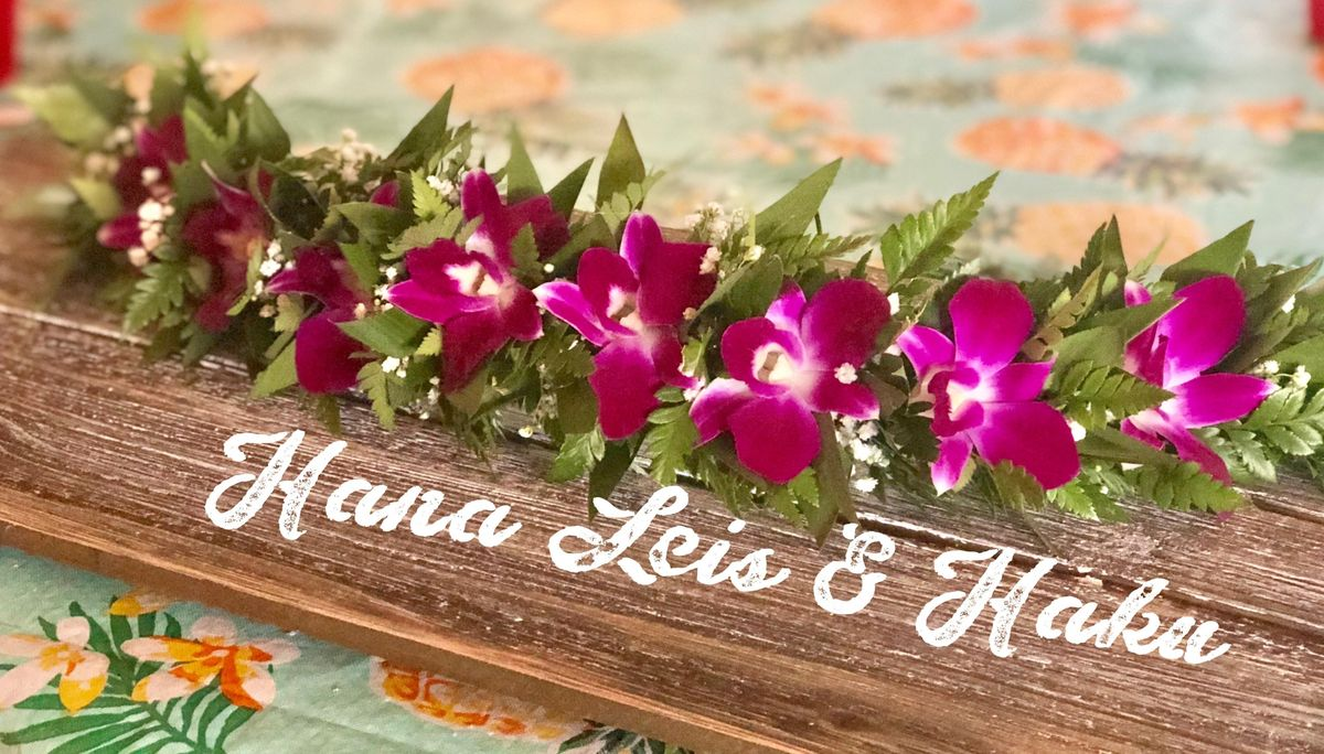 Hawaiian haku lei flower crown workshop at the pottery shop town hawaiian haku lei flower crown workshop izmirmasajfo