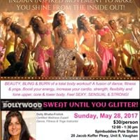 Bollywood fitness workshop for women 30person.