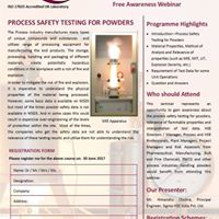 Free Webinar- Process Safety Testing for Powders