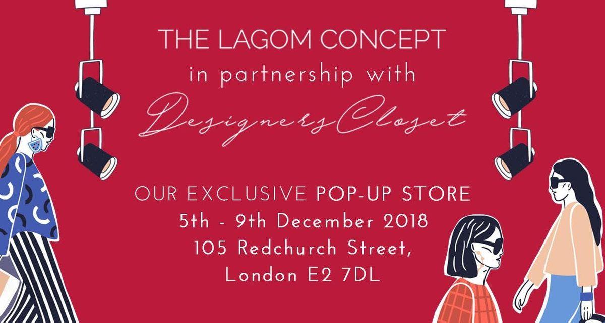 POP-UP STORE DESIGNERS CLOSET & THE LAGOM CONCEPT