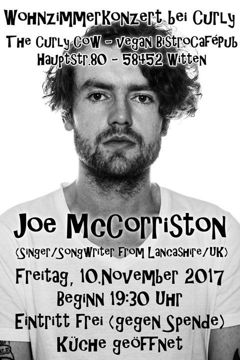 Wohnzimmerkonzert Mit JoeMcCorriston UK Eintritt Frei At The