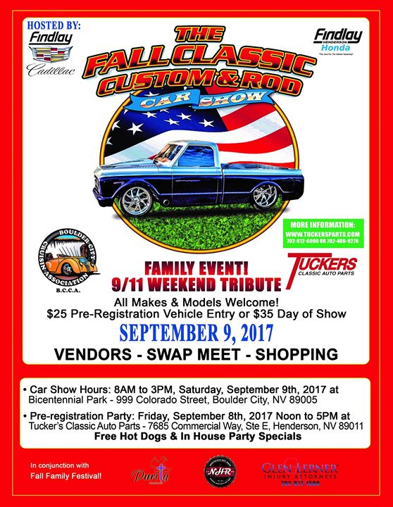 The Fall Classic Custom Rod Car Show At Bicentennial Park Boulder - Car show henderson nv