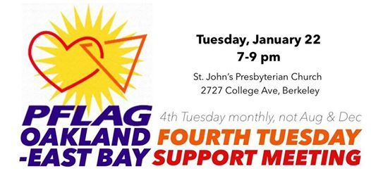 4th Tuesday Meeting - Kick Off 2019 with PFLAG