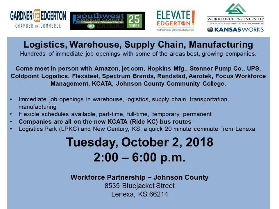 Logistics, Warehouse, Supply Chain and Mfg  Job Fair