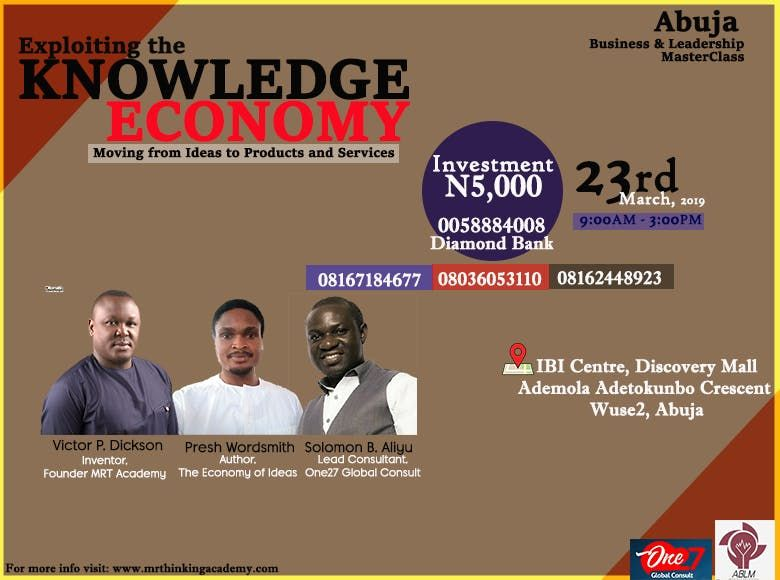 Exploiting the KNOWLEDGE ECONOMY