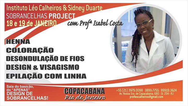 Sobrancelhas Project - Prof Isabel Costa no Rio de Janeiro