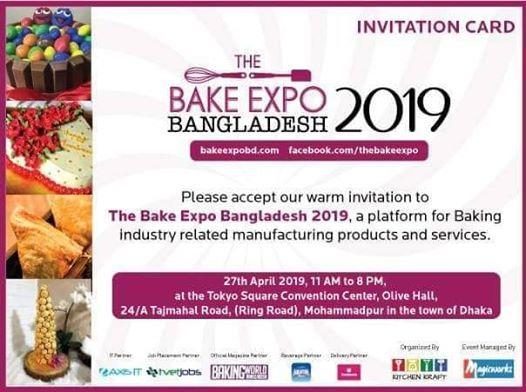 Bake Expo 2019 at Tokyo Square Convention Center-TSCC, Dhaka