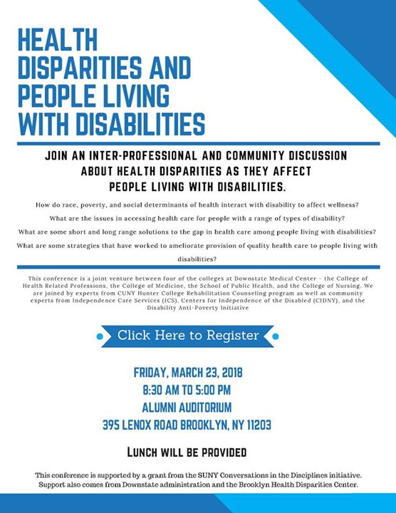 Health Disparities and People Living with Disabilities at 395 Lenox
