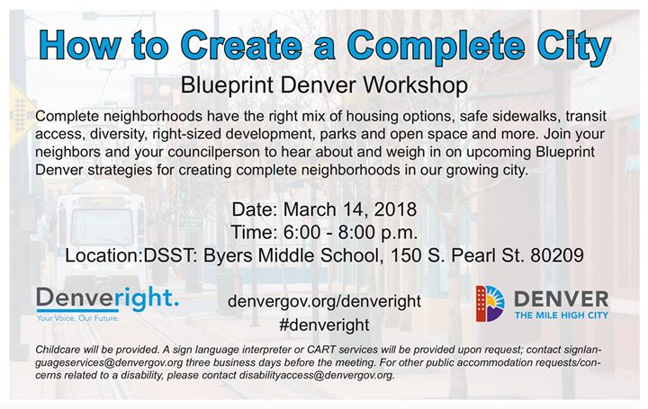 How to create a complete city at 150 s pearl st denver co 80209 how to create a complete city blueprint denver workshop malvernweather Images