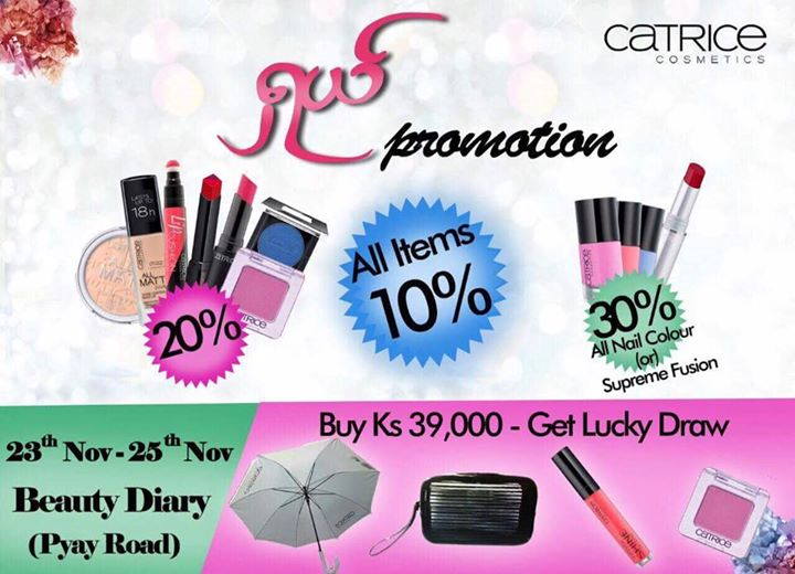 Catrice Sales Promotion@Beauty Diary, Pyay Road at Yangon